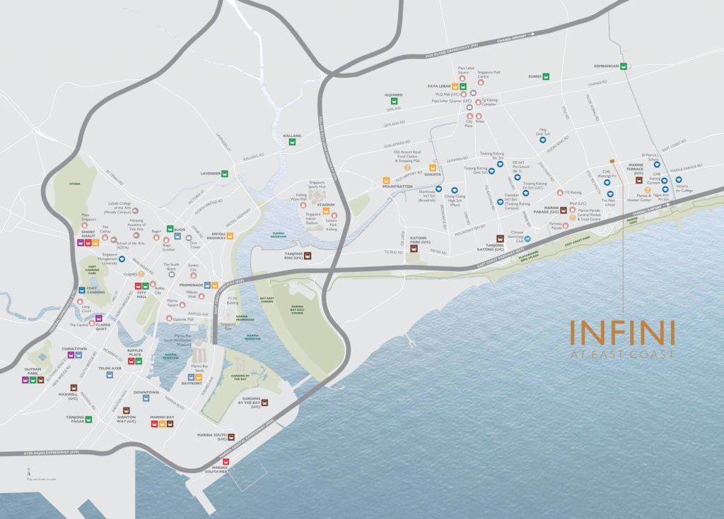 INFINI AT EAST COAST LOCATION MAP